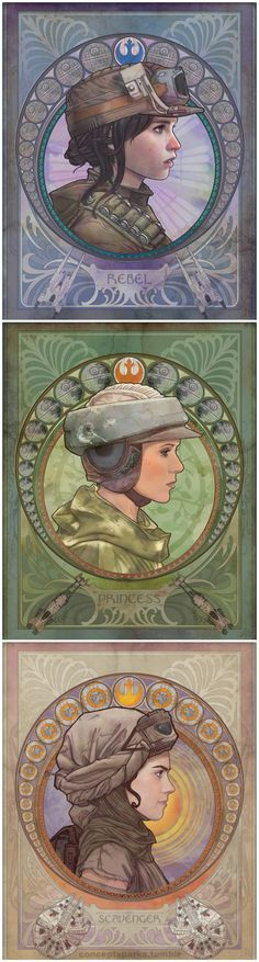 May the force be with her. One, an outsider, the other, royalty. One unknown. All Heroes.