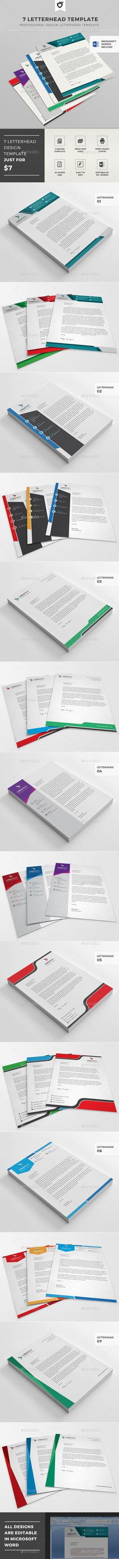 Buy Letterhead Template by LeafLove on GraphicRiver. This layout is suitable for any project purpose. Very easy to use and customise. Stationery Printing, Stationery Templates, Stationery Items, Stationery Design, Letterhead Design, Letterhead Template, Letter Templates, Print Templates, Design Templates