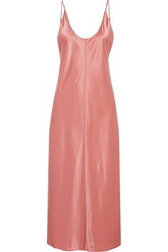 T by Alexander Wang - Embroidered Silk-satin Dress - Peach - US