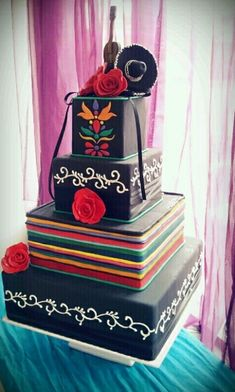 5 de Mayo Wedding cake by Azucar Rococo