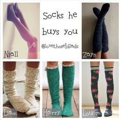 Love these socks. Excuse the names of one direction