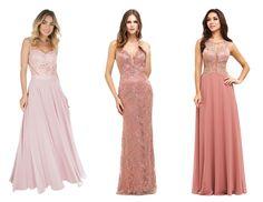 vestido de festa rosa 2016