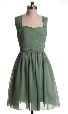 Chic Chiffon Ruched Cross Bodice Short Bridesmaid Dress [TBQP156] - $141.00 : Custom Made Wedding, Prom, Evening Dresses Online | Tulle & Chantilly