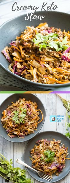 Creamy keto slaw is a zesty twist on the regular keto slaw with ground beef. I've added homemade mayonnaise and dijon mustard into the mix! It's still super quick, but even tastier than you'll ever imagine. Slaw Recipes, Easy Soup Recipes, Diet Recipes, Healthy Recipes, Fodmap Recipes, Diet Meals, Healthy Dinners, Recipies, Low Carb Dinner Recipes