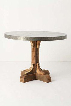 Anthropologie - Galvanized Pedestal Table