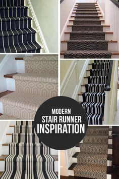 Modern Stair Runner Inspiration