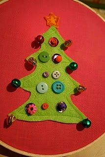 Im going to make all my friends ugly Christmas sweaters! #Christmas #buttons #trees