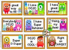 Class Dojo Freebies and trading cards