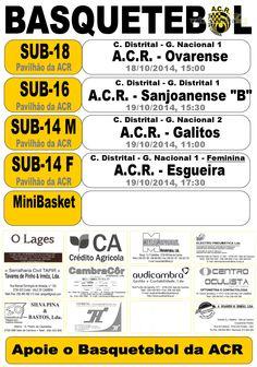 Basquetebol: ACR Formação > 18 e 19 Out 2014  #ValeDeCambra #basquetebol