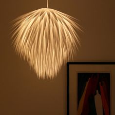 Craft : Ten Lampshades to Make at Home  Paper Starburst Pendant Light DIY by The 3Rs blog 4