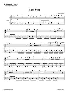 how to play fight song on piano notes