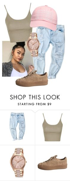 """"" by jehvnnah ❤ liked on Polyvore featuring Topshop, Michael Kors and October's Very Own"
