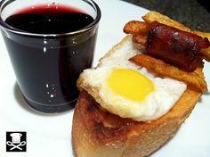 eneko sukaldari Huevos Fritos, Tapas, French Toast, Breakfast, Food, Drink, Snacks, Food Recipes, Lunches