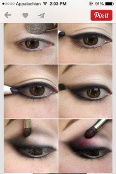 Make up for brown eyes.