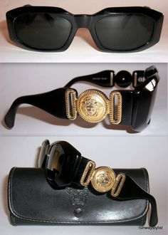 790a4df5953 Gianni Versace Rarest Iconic 414 Sunglasses. Rare Black Frame. Vintage  1994. Biggie Smalls