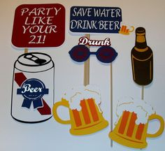 DIY Photo Props Drinking Party/ Drunk/Beer Mugs/Beer Can/Flask/Whiskey (2140D) #HandCrafted