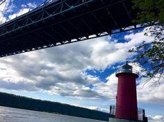 Little Red #lighthouse #run #15miles #runners #runner #running #runnershigh #sky #clouds #fit #fitfam #fitness #instarunners #instarunner #windy