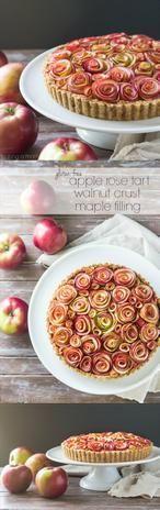 Fantastisch mooie appeltaart. En naast mooi ook nog eens heel lekker!