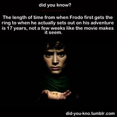 Any one that read the book knows frodo got the ring in his early thirties and set out when he's fifty.