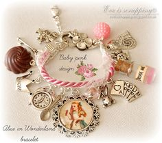 Hey, I found this really awesome Etsy listing at https://www.etsy.com/listing/193304943/alice-in-wonderland-bracelet-baby-pink
