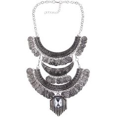 2016 Collar Coin Necklace & Pendant Vintage Crystal Maxi Choker Statement Collier female Boho Big Fashion Women Jewellery