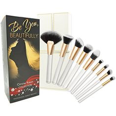 ULTIMATE 8 Piece KABUKI Makeup Brush Set With Designer Case plus BONUS Fan Brush. Hand-Made Powder, Foundation, Buffing, Concealer, Blending Brushes and More. Professionally Endorsed. *** You can find out more details at the link of the image. (This is an affiliate link and I receive a commission for the sales)