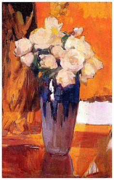 Белые розы из сада при доме, 1919. Хоакин Соролья