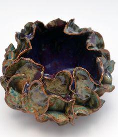 Turquoise & Purple Flower Vase8