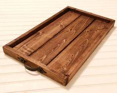 Farmhouse tray Rustic wooden tray Ottoman tray Breakfast tray Kitchen tray centerpiece Serving Wood Wedding decor