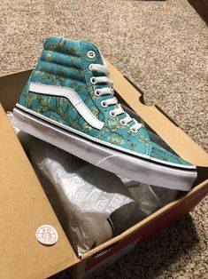 4e7dda786bf VANS Sk8 Hi Vincent Van Gogh Almond Blossom Multi Color Shoes Vn0a38geubl  Size 6 for sale online