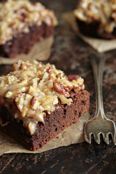 German Chocolate Brownies on MyBakingAddiction.com