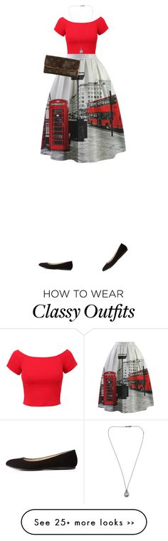 """""""722. """"LONDON, LONDON, LONDON."""" Classy Chic, in Black and Red."""" by kohlanndesigns on Polyvore"""