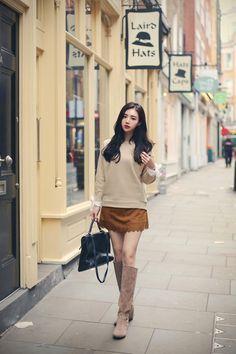 #milkcocoa winter daily 2016 feminine& classy look(MT)