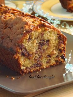 Food for thought: Cake with Hazelnut and Chocolate Milk Greek Sweets, Greek Desserts, Jamaican Dishes, Jamaican Recipes, Banana Recipes, Cake Recipes, Dessert Recipes, Chocolates, Brunch