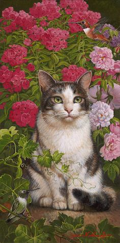 Artist: Yana Movchan, Title: Masha in the Phlox