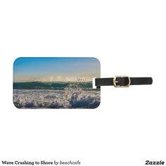 Wave Crashing to Shore Luggage Tag