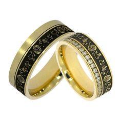 Verighete ATCOM Lux ROSA aur galben Aur, Bangles, Wedding Rings, Engagement Rings, Jewelry, Bracelets, Enagement Rings, Jewlery, Bijoux
