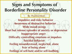 Signs of Borderline Personality Disorder- Borderline personality disorder (BPD) is a mental health disorder that generates significant emotional instability. This can lead to a variety of other stressful mental and behavioral problems. Mental Health Disorders, Mental Health Issues, Mental Health Awareness, Signs Of Mental Illness, How To Control Emotions, Bipolar Disorder, Bi Polar Disorder Symptoms, Panic Disorder, My Demons