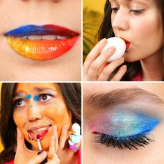 Be random when doing your makeup 5 Minute Crafts Videos, 5 Min Crafts, Diy Crafts Hacks, Diy Home Crafts, Cute Crafts, Diy Crafts Videos, Diy Videos, Diy Crafts To Sell, Diy Crafts For Kids