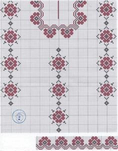 This Pin was discovered by Юли Chinese Embroidery, Folk Embroidery, Ribbon Embroidery, Cross Stitch Embroidery, Embroidery Patterns, Knitting Patterns, Knitting Designs, Cross Stitch Letters, Cross Stitch Borders