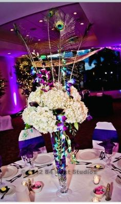 Purple and peacock wedding