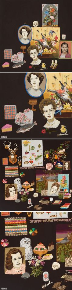 kristinlamb. These reminds me so much of Victorian collages from the late 19th century!
