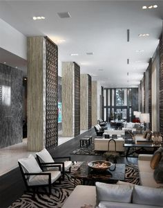 Hotel Interior Design ideas: The W South beach. See more: http://www.brabbu.com/en/inspiration-and-ideas/