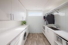 Room to hang clothes to dry. 42 Laundry Room Design Ideas To Inspire You