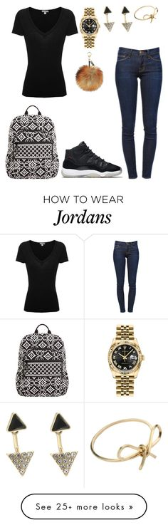 """Outfit of the week:Friday"" by sweet-brownsuga on Polyvore featuring James Perse, Frame Denim, NIKE, Rolex, Oasis, By Boe and Vera Bradley"