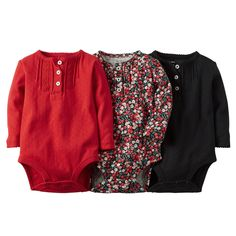 3-Pack Long-Sleeve Bodysuits | Carters.com