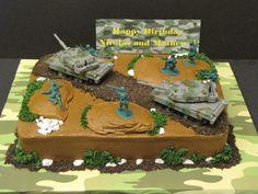 Army themed Birthday Party Army Cake Cakes In 2019 Army Themed Birthday, Army Birthday Cakes, Army Birthday Parties, Army's Birthday, Birthday Ideas, Army Cake, Military Cake, Tank Cake, Fondant