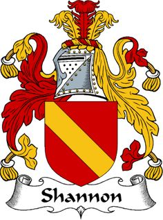 Shannon Clan Coat of Arms-Shannon Name Meaning reduced form of Shanahan.reduced Anglicized form of Gaelic Ó Seanáin 'descendant of Seanán', a personal name based on a pet form of seán 'old'.in County Clare, a reduced Anglicized form of Mac Giolla tSeanáin 'son of the servant of St. Seanán'. In the Irish midlands Leonard and Nugent have been adopted as equivalents of this name.