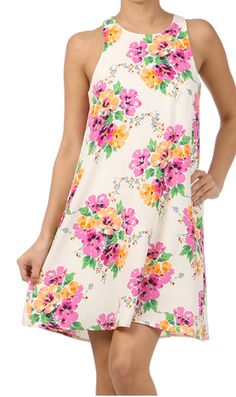 Evelyn S/L Floral Dress | Freckles Boutique