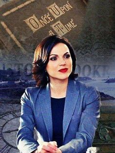 Awesome Regina with awesome Once Upon A Time storybook in art